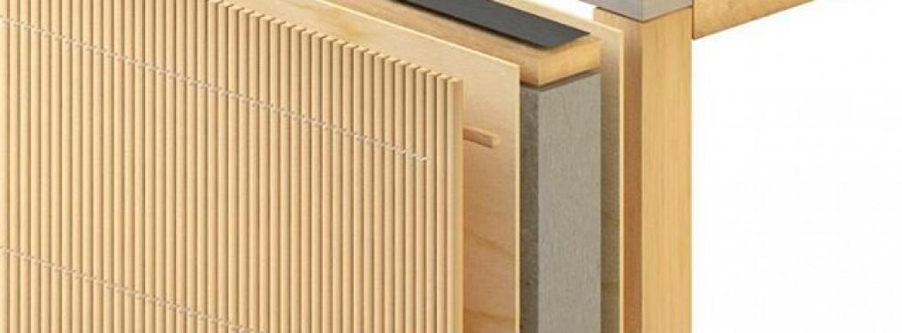 Fassadenaufbau Holz