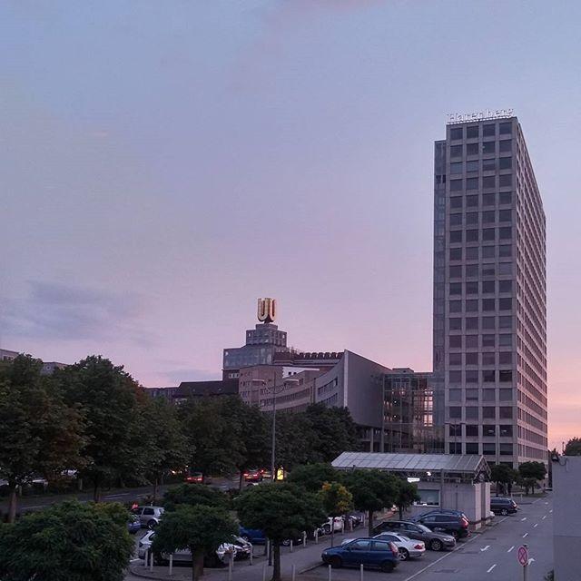 Coming home at sunset... #Dortmund #uturm #harenbergcitycenter #sunset #workworkworkwork